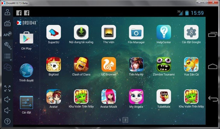 Trình giả lập Android Droid4X hay Android4X