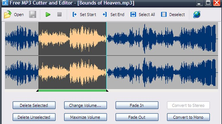 Phần mềm Free Mp3 Cutter And Editor